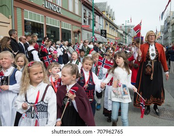 OSLO - MAY 17: Norwegian Constitution Day is the National Day of Norway and is an official national holiday observed on May 17 each year. Pictured on May 17, 2017