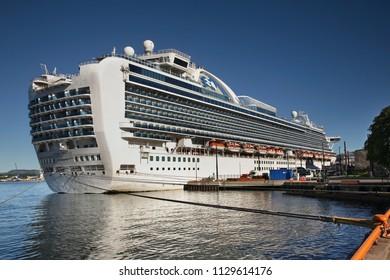 OSLO. NORWAY. 01 JUNE 2017 : Crown Princess cruise ship in Oslo port. Norway