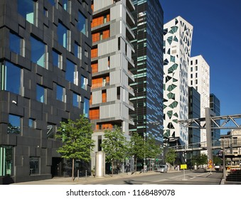 OSLO. NORWAY. 01 JUNE 2017 : Opera quarter at Dronning Eufemias  street in Oslo. Norway