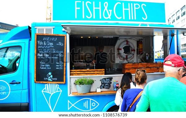 Oslo Norway 05132018 Food Truck Selling Stock Photo (Edit