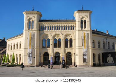 Oslo, Norway- 2016-10-04 : Nobel Peace Center building, in Oslo Norway