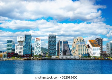 OSLO, NORWAY - 21 JUNE, 2015: Oslo Skyline, Norway, Scandinavia