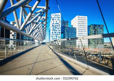 OSLO, NORWAY - 21 JUNE, 2015: Amazing view of modern business architecture in the center of Oslo, Norway