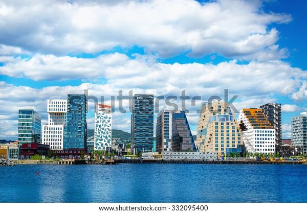 OSLO, NORWAY - 21 JUNE, 2015: Oslo Skyline, Norway, Scandinavia