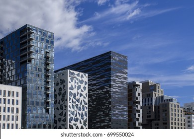 OSLO, NORWAY - AUGUST 02, 2016: View of the skyline