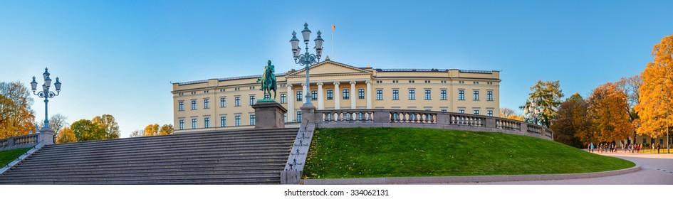 Oslo, Norway. Facade of Royal Palace. Taken on 2015/10/25