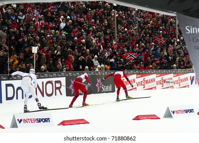 OSLO, NORWAY - FEBRUARY 24: FIS Nordic World Ski Championship, Sprint on February 24, 2011 in Holmenkollen, Oslo in Norway.