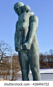 Oslo, Norway - February 27, 2016: Sculpture at Vigeland Park in Oslo, Norway.