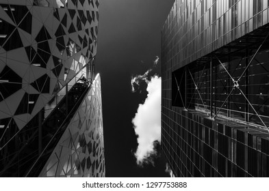 Oslo, Norway - July 2016 Modern buildings called Barcode at Bjorvika, Oslo, Norway