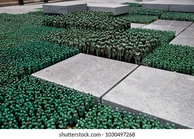 Oslo, Norway - July 4, 2014: Sculpture on the Grass Roots Square by Do Ho Suh