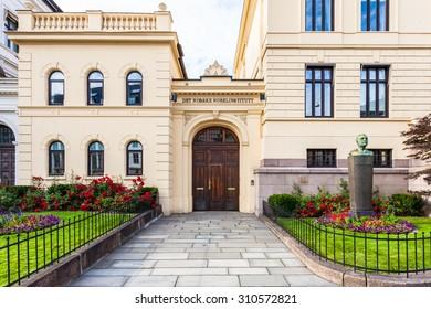 OSLO, NORWAY - JULY 7: The Norwegian Nobel Institute on July 7, 2015 in Oslo, Norway.