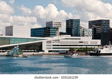 Oslo, Norway - June 20, 2014: Day view of the Opera House