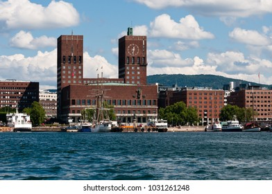 Oslo, Norway - June 20, 2014: View of the Oslo City Hall