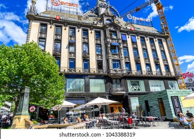OSLO, NORWAY - JUNE 20, 2017: Olav Thon Group building of Oslo, the capital of Norway