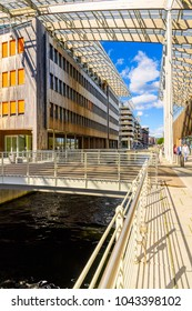 OSLO, NORWAY - JUNE 20, 2017: The Astrup Fearnley Museum of Modern Art, Harbour of Oslo, the capital of Norway
