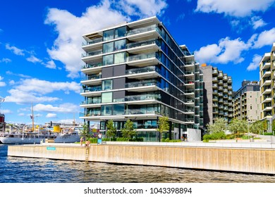 OSLO, NORWAY - JUNE 20, 2017: Building in the Harbour of Oslo, the capital of Norway