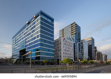 Oslo, Norway - May 14, 2016: Buildings of the Barcode Project in Oslo, Norway