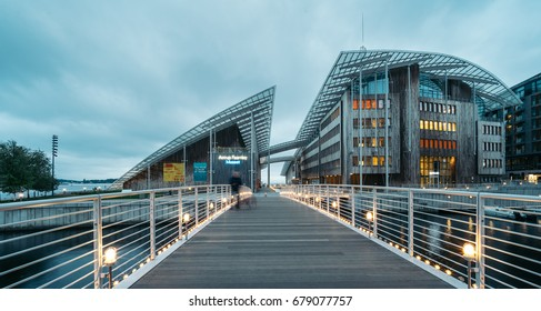 OSLO, NORWAY - MAY 30, 2017: The Astrup Fearnley Museum of Modern Art is a privately owned contemporary art gallery in Oslo in Norway. It was founded and opened to the public in 1993.