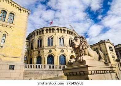 Oslo, Norway. Norwegian parliament - Stortinget. Taken on 2015/05/23