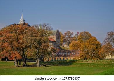 Oslo, Norway - October 14 2018: Akershus fortress