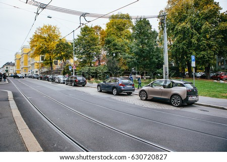 Oslo Norway October 2016 Electric Car Stock Photo Edit Now