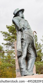 OSLO, NORWAY - SEP 16, 2016: Hans Krag monument, famous Norwegian engineer.
