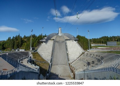 Oslo Norway September 23, 2018 the  Holmenkollen, olympic famous ski jump