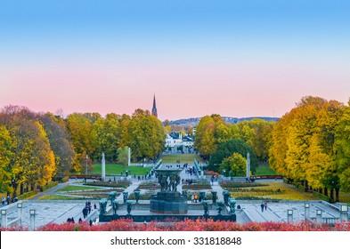 Oslo, Norway. Vigeland park during autumn. Taken on 2015/10/25