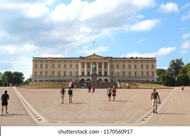 Oslo, NORWAY-JUNE 25, 2018: View of the Royal Castle of Oslo