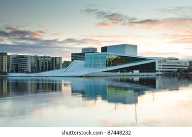 OSLO, NORWAY-OCT. 3:The Opera House on October 3, 2011 in Oslo, Norway. The only opera house in the world where the public are allowed total access to walk, run, skateboard on the roof of the structure.
