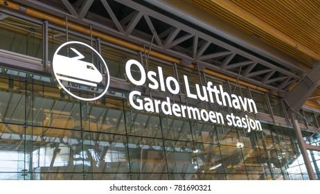 Oslo/Norway-Sep 23 2017 : Oslo gardermoen airport logo
