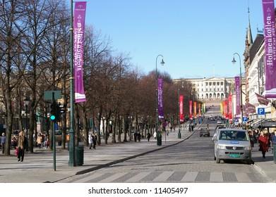Oslo's main street Karl Johans street
