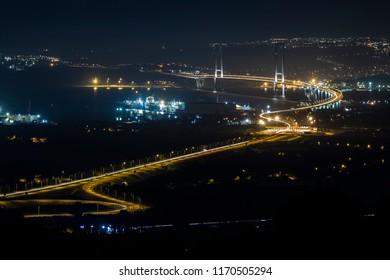 Osman Gazi Bridge (Osman Gazi Koprusu Yalova, Kocaeli). Yalova, izmit, Kocaeli, Turkey