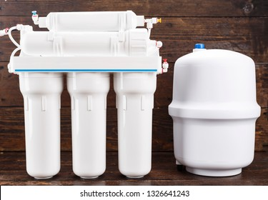Osmosis water purification filter for home use. healthy lifestyle