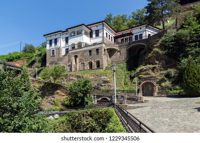 OSOGOVO MONASTRY, MACEDONIA - JULY 21, 2018: Medieval Monastery St. Joachim of Osogovo, Kriva Palanka region, Republic of Macedonia