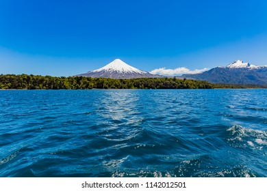 Osorno volcano and Llanquihue lake in Chile
