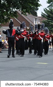 OSSEO, MN - JUNE 26 : Richfield High School Marching Band Performing in the Osseo Marching Band Festival on June 26, 2010 in Osseo, MN