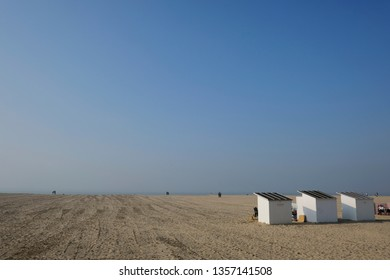 Ostend, Belgium Mar. 30, 2019. View of long beach of Ostend.
