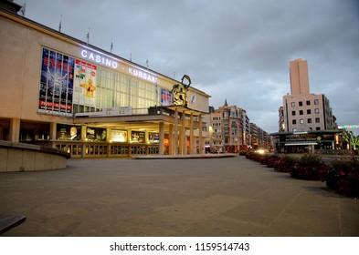 Ostend, Belgium - September 9, 2014: Casino Oostende