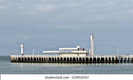 Ostend, Belgium - September 9, 2014: Oostende Pier