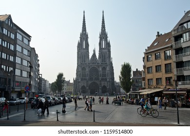 Ostend, Belgium - September 9, 2014: Church of Saints Peter and Paul