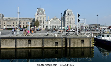 Ostend, Belgium - September 9, 2014: Station Oostende