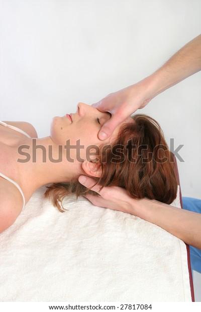 Osteopathy massage close-up