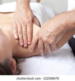 Osteopathy shoulder manipulation