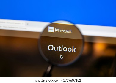 Ostersund, Sweden - May 12, 2020: Microsoft outlook website.. Microsoft outlook is a personal information manager from Microsoft,