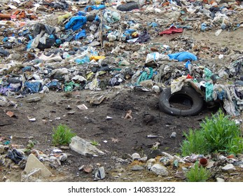 Ostrava - May,17,2019. The municipal landfill, where 80 tons of household waste is transported daily, the cost of landfilling is high due to inadequate waste separating by city residents.