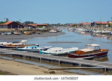 Ostreicole harbor of La Teste de Buch, commune is a located on the shore of Arcachon Bay, in the Gironde department in southwestern France.