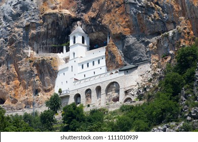 Ostrog monastery, in Montenegro. Ostrog monastery is the most popular pilgrimage place in Montenegro.