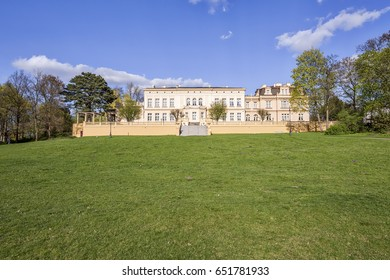 Ostromecko, Poland, 14 April 2017  - Neoclassical Palace and Park - Popular Landmark near Bydgoszcz