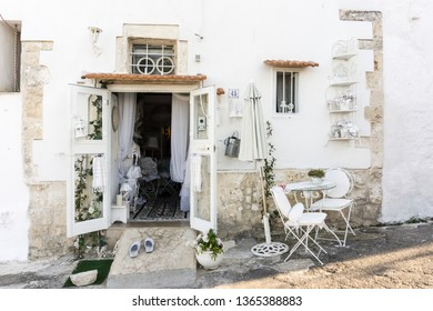 OSTUNI ITALY ON JULY 2018: Cityscape in Ostuni Brindisi Puglia Italy on July 13, 2018